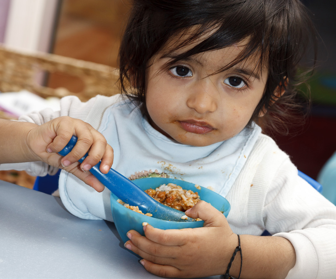 Little child eating